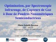 Exposé 15 : M.-I. Baraton - Université de Limoges
