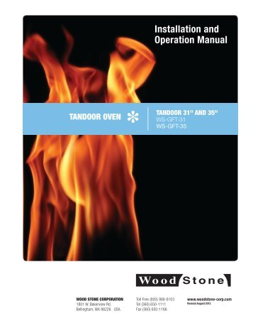 Installation and Operation Manual - Wood Stone Corporation