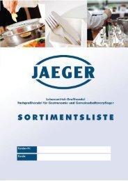 Ganzseitiger Faxausdruck - Jaeger