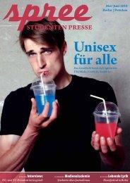 """Spree – Ausgabe Mai 2010 """"Unisex für alle"""""""