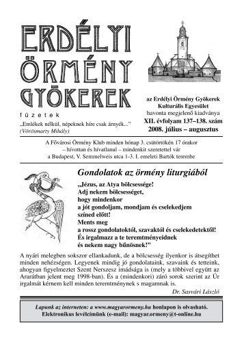 Örmény kultúra hete 2008 - EPA