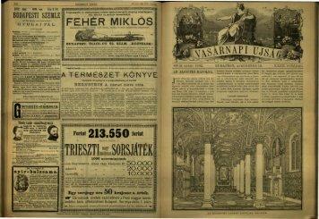 Vasárnapi Ujság 1882. 29. évf. 33. sz. augusztus - EPA