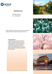 Muhteşem Çin… - Antur Turizm