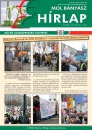 2011. január - Magyar Olaj- és Gázipari Bányász Szakszervezet