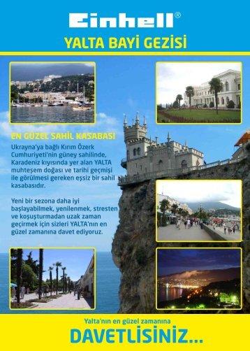 Einhell Yalta Gezisi - EINHELL İNTRATEK Mühendislik ve Dış ...