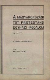 A magyarországi tót protestáns egyházi irodalom 1517-1711 ...