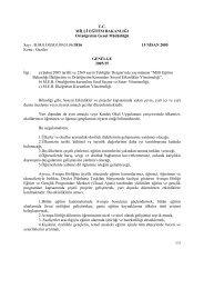 Genelge 2005/25:Geziler - Dış İlişkiler Genel Müdürlüğü