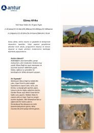 talunyası Güney Afrika - Antur Turizm