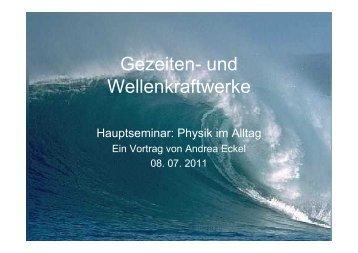 Gezeiten- und Wellenkraftwerke