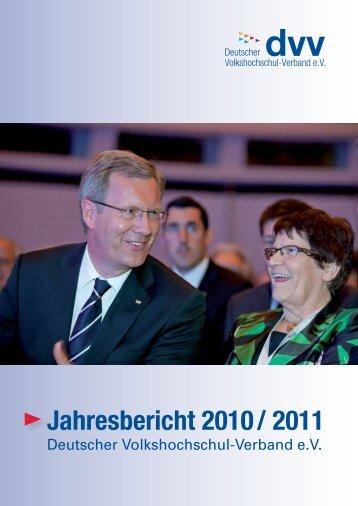 Jahresbericht 2010 / 2011 - Landesverband der Volkshochschulen ...