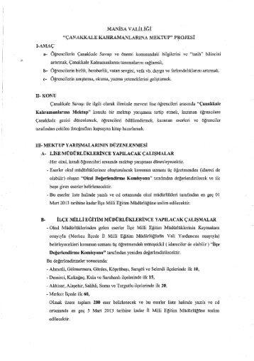 MANİSA vAaiıiiĞi - Manisa Milli Eğitim Müdürlüğü