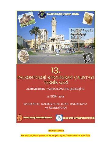 paleontoloji-stratigrafi çalıştayı teknik gezi paleontoloji-stratigrafi ...