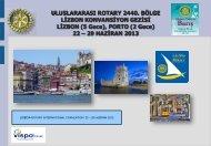 Konvansiyon Gezi Programı - Rotary 2440.Bölge