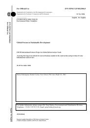 For Official Use ENV/EPOC/GF/SD(2006)3 Global ... - Pacific Institute