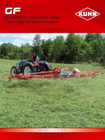 Gyrotedders 2, 4 and 6 Rotor Trailed - Kuhn