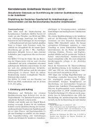 Kerndatensatz Anästhesie Version 3.0 / 2010 - DGAI