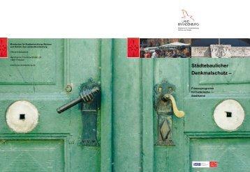 Städtebaulicher Denkmalschutz – - Ministerium für Infrastruktur und ...
