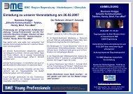 Einladung zu unserer Veranstaltung am 26.02.2007 - BME