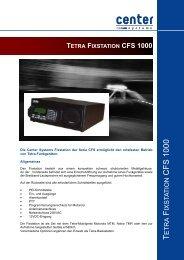 tetra fixstation cfs 1000 - Center Communication Systems GmbH