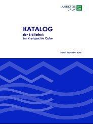 KATALOG - Landkreis Calw