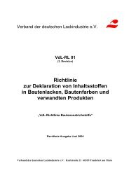 VdL-Richtlinie 01 Bautenanstrichstoffe - VdL Verband der ...