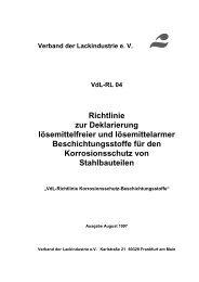 VdL-Richtlinie 04 Korrosionsschutz-Beschichtungsstoffe