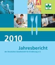 Jahresbericht - Deutsche Gesellschaft für Ernährung, DGE