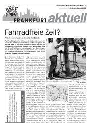 Fahrradfreie Zeil? - ADFC Frankfurt