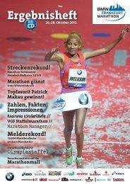 Ergebnisheft 2012 - BMW Frankfurt Marathon