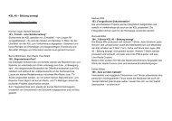 Zusammenfassung der Projekte - Luzern