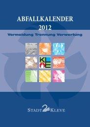 ABFALLKALENDER 2012 - in Kleve