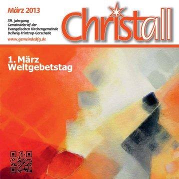 Christall Ausgabe 2 - März 2013 - Gemeinde DFG