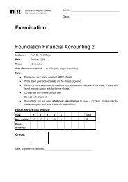 Examination Foundation Financial Accounting 2