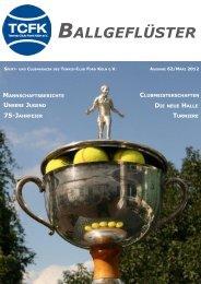 Ausgabe 2012 - Tennis-Club Ford Köln eV