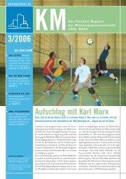 KM Magazin 3/2006 - Wohnungsgenossenschaft