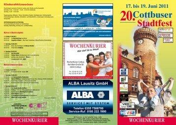 Cottbuser Stadtfest 17. bis 19. Juni 2011 20.