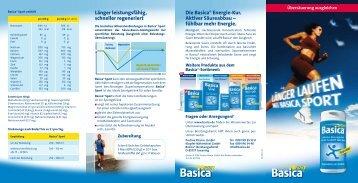 Länger leistungsfähig, schneller regeneriert Die Basica® Energie ...