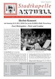 Ausgabe 43 / Okt. 2012 - Stadtkapelle Wasserburg am Inn eV