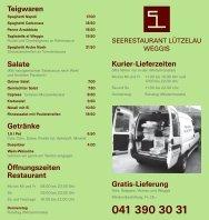 Kurier-Lieferzeiten Gratis-Lieferung Teigwaren Salate Getränke ...
