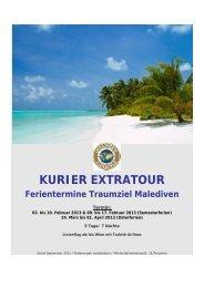 KURIER EXTRATOUR Ferientermine Traumziel Malediven