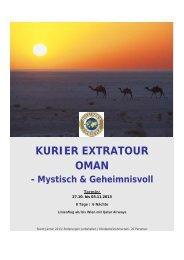 KURIER EXTRATOUR OMAN - Mystisch & Geheimnisvoll