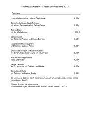 KUDDELDADDELDU – Speisen und Getränke 2012 Speisen