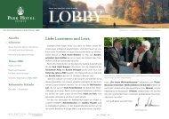 Online-Newsletter des Park Hotel Bremen - Deutscher Tennis Bund