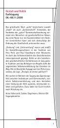 Gestalt und Politik Fachtagung 06.-08.11.2009 - Dr. Dieter Bongers ...