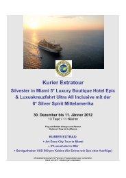 Kurier Extratour - auf der LIFESTYLE Homepage