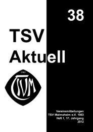 TSV Aktuell Nr. 38 - TSV Malmsheim