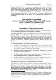 3 - 2.1 Gefahrenabwehrverordnung über die Aufrechterhaltung der ...