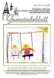 08_3 Gemeindeblatt Juni-Sept.08 - Ev.-luth. Kirchengemeinde St ...
