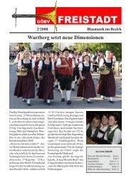 Blasmusik im Bezirk Wartberg setzt neue Dimensionen 2 ... - Freistadt