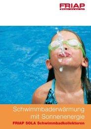 Schwimmbaderwärmung mit Sonnenenergie - Friap AG